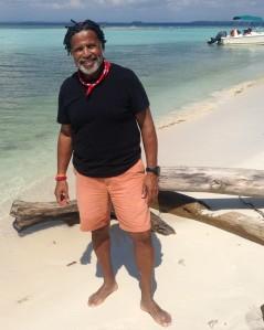 Thomas Standing on Beach