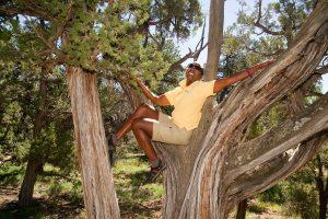 Carolyn in Tree at Grand Canyon